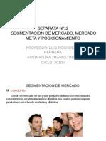 Cygp.sesion 12. Segmentacion, Mercado Meta y Posicionamiento