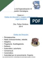 Gesti n Estrat Top III 1 Estilos de Direcci n 2014