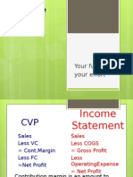 Cost Volume Profit  (CVP) Analysis and Break Even Point Analysis