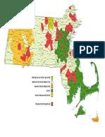 Electric Utility Map of Massachusetts