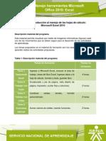 Microsoft Office 2010 Excel. Unidad 1 V5