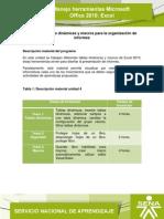 Microsoft Office 2010 Excel. Unidad 4 V5