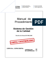 Manual de Procedimientos Gestion de Calidad.pdf Rev 2