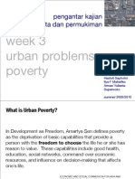 Kajian Kota Week 3.0 Poverty (Urban Problem)