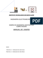 Manual de Practicas en Solidworks 1