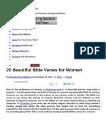 20 Beautiful Bible Verses for Women