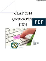 CLAT 2014 Question Paper with Answers