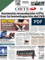 Periódico Norte edición impresa del día 24 de mayo del 2014