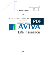 Study of Recruitment & Selection Process in Aviva Life
