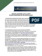 Zimmel, Manfred () Amanita Market Forecasting Newsletter 2014-05-18
