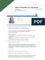 nieuwsbrief 6 kort bondig en duidelijk  het toekomstplan voor zorgzekerheid