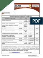 cronograma-cursos2014 FUNDACEAR