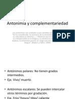 Antonimia y Complementariedad. Ángela