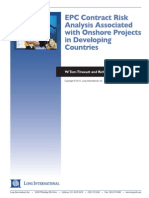 Long Intl EPC Contract Risk Analysis Associated With Onshore Projects in Developing Countries