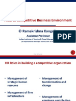 HRM in Competitive Business