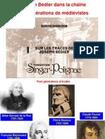 Charles RIDOUX - Joseph Bédier dans la chaîne des générations de médiévistes