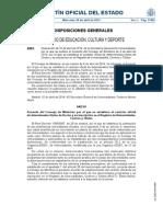 BOE-A-2014-4581 Ministerio Cultura y Deporte