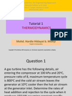 Tutorial 1 Gas Power Cycle