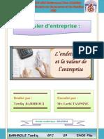 L'Endettement Et La Valeur d'Entreprise (BARHROUJ Tawfiq)