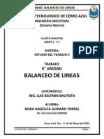 ESTUDIO DEL TRABAJO II UNIDAD 4 BALANCEO DE LINEAS.docx