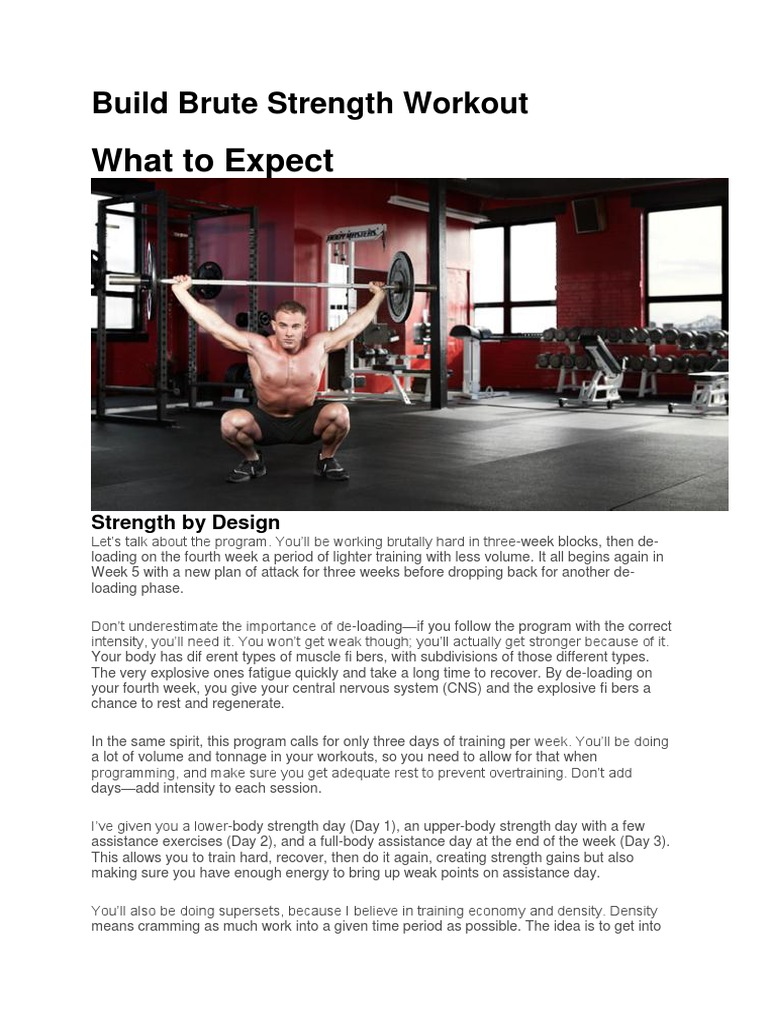 Build Brute Strength Workout | Hobbies | Individual Sports