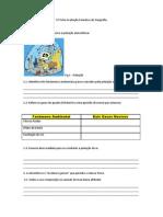 Ficha Avaliação Sumativa de Geografia - Ambiente