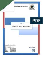 Uganda Statistical Abstract 2013