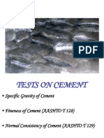 Tests on Cement