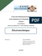 Cours Electrotechnique ESTO
