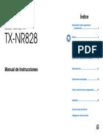 Manual TX-NR828 Es
