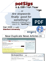 Robust & Efficient Near Duplicate Detection in Large … Or