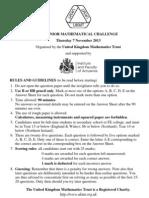 UKMT Senior Mathematical Challenge 2013