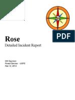 Incident Report - Rose