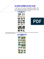 Instalasi HDD Combo Di PS2 Slim
