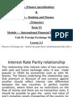 Lesson 2.3 Revised International Finance Management