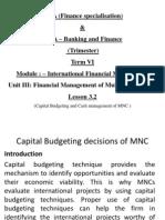 Lesson 3.2 International Finance Management