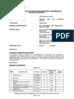 Protocolo Seguridad y Desempeño P E Nº 5-13 2011 Modulos Leds