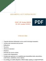 Abdomen Acut Netraumatic