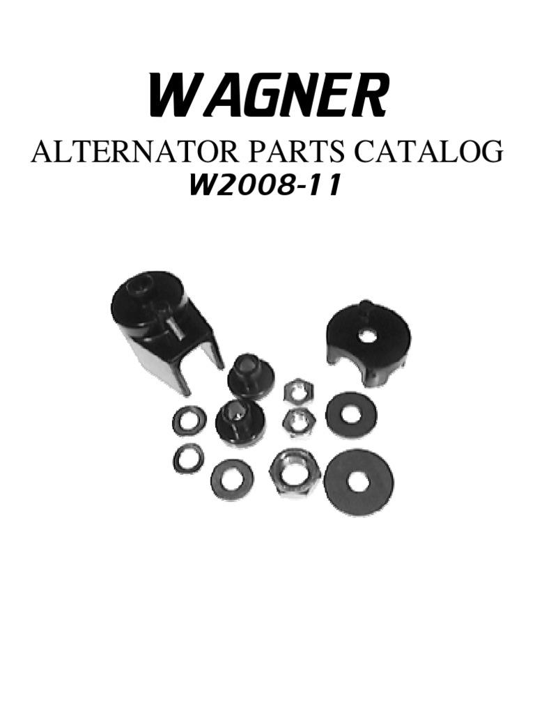Alternator Parts Catalog Delco Regulator F And R Terminals