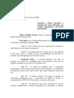 Projeto de Lei 002 - 09 Lei 657