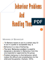 Common behavior problems in children and the way  to handle them