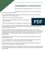 Ivanrivera-pmp.blogspot.mx-proverbios Sobre Project Management y La Triple Restriccion