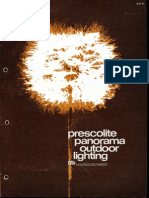 Prescolite Panorama Outdoor Lighting Overview Brochure 1973