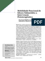 ALFIWRI 2004 - Mobilidade Funcional de Idosos Submetidos a Intervenção Fisioterapêutica