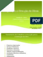 Legislação e Direcção de Obras Trabalho1-Parte I