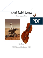 It Aint Rocket Science Acoustics
