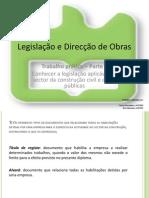 Legislação e Direcção de Obras Trabalho 2