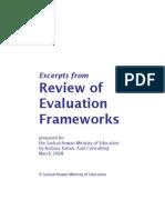 Evaluation Frameworks Review