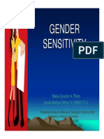 Gender Sensitivity Issues and Role Snov 2008