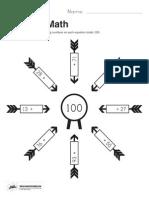 Bullseye Math Worksheet